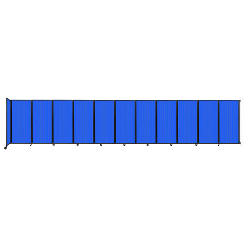 """Wall-Mounted Room Divider 360 Folding Partition 30'6"""" x 6' Blue Polycarbonate"""