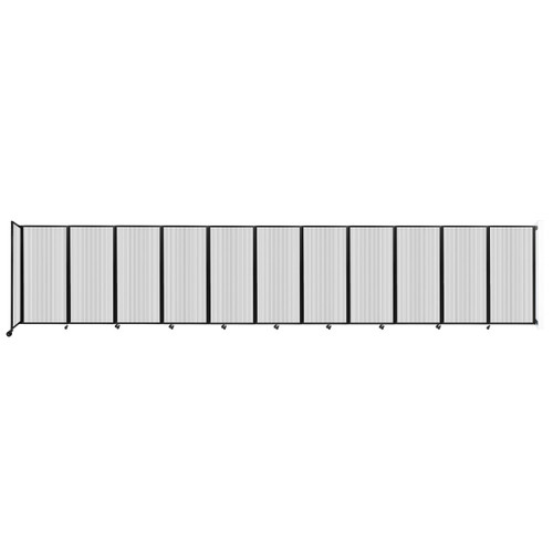 """Wall-Mounted Room Divider 360 Folding Partition 30'6"""" x 6' Clear Polycarbonate"""