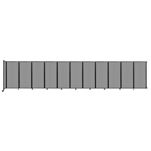 """Wall-Mounted Room Divider 360 Folding Partition 30'6"""" x 6' Light Gray Polycarbonate"""