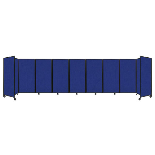 Room Divider 360 Folding Portable Partition 25' x 6' Royal Blue Fabric