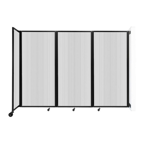 """Wall-Mounted Room Divider 360 Folding Partition 8'6"""" x 6' Clear Polycarbonate"""