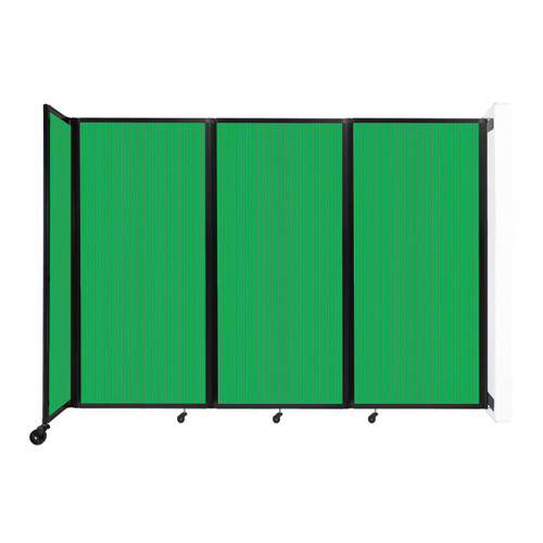 """Wall-Mounted Room Divider 360 Folding Partition 8'6"""" x 6' Green Polycarbonate"""