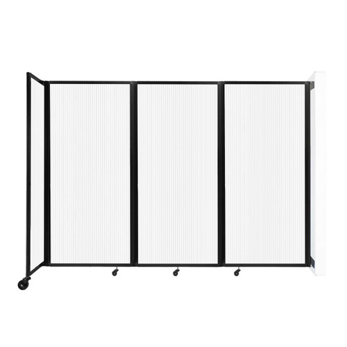 """Wall-Mounted Room Divider 360 Folding Partition 8'6"""" x 6' Opal Polycarbonate"""
