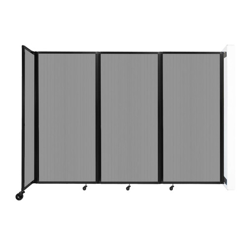 """Wall-Mounted Room Divider 360 Folding Partition 8'6"""" x 6' Light Gray Polycarbonate"""