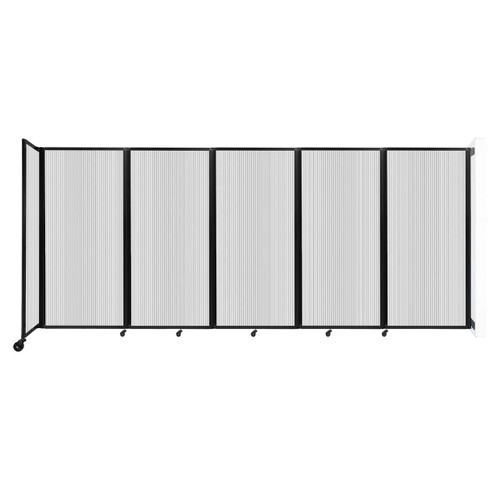 Wall-Mounted Room Divider 360 Folding Partition 14' x 6' Clear Polycarbonate