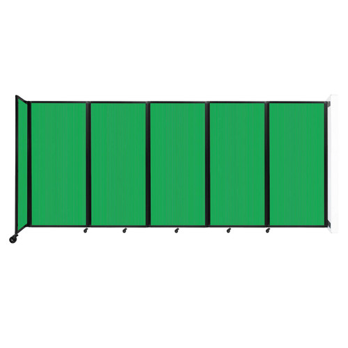 Wall-Mounted Room Divider 360 Folding Partition 14' x 6' Green Polycarbonate