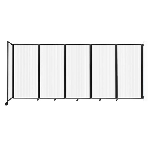 Wall-Mounted Room Divider 360 Folding Partition 14' x 6' Opal Polycarbonate
