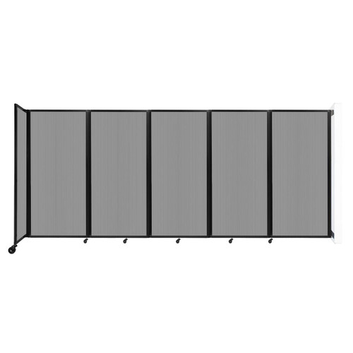 Wall-Mounted Room Divider 360 Folding Partition 14' x 6' Light Gray Polycarbonate