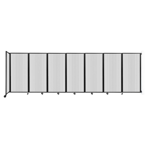 """Wall-Mounted Room Divider 360 Folding Partition 19'6"""" x 6' Clear Polycarbonate"""
