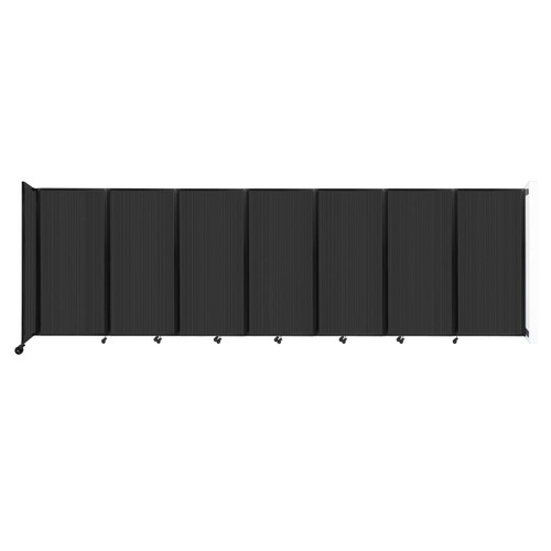 """Wall-Mounted Room Divider 360 Folding Partition 19'6"""" x 6' Dark Gray Polycarbonate"""