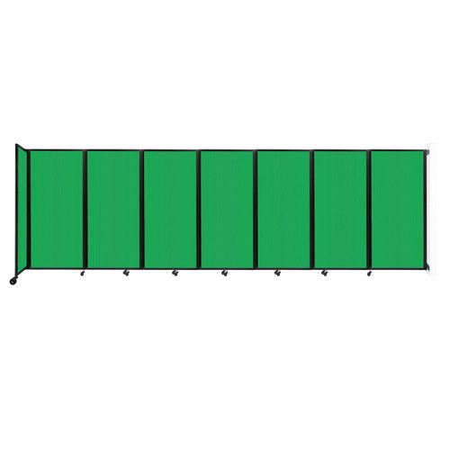 """Wall-Mounted Room Divider 360 Folding Partition 19'6"""" x 6' Green Polycarbonate"""