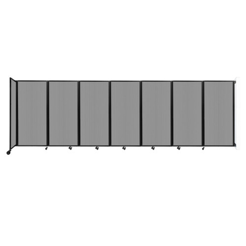 """Wall-Mounted Room Divider 360 Folding Partition 19'6"""" x 6' Light Gray Polycarbonate"""