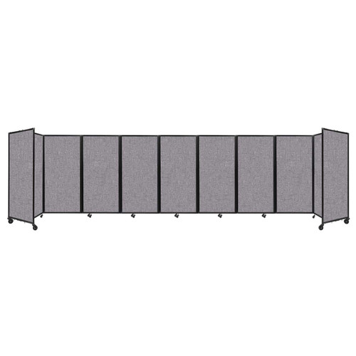 Room Divider 360 Folding Portable Partition 25' x 6' Cloud Gray Fabric