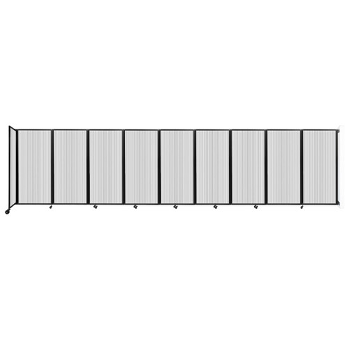 Wall-Mounted Room Divider 360 Folding Partition 25' x 6' Clear Polycarbonate