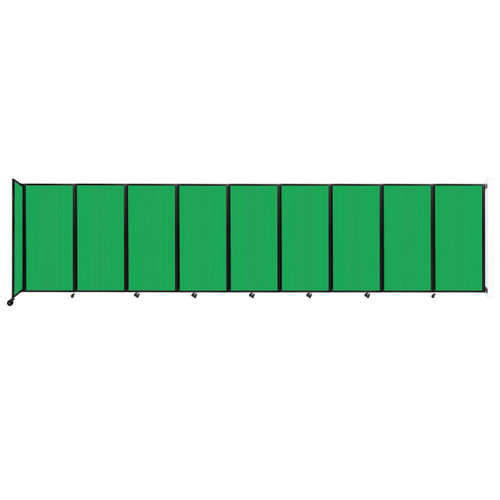 Wall-Mounted Room Divider 360 Folding Partition 25' x 6' Green Polycarbonate