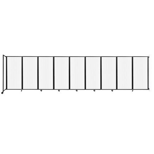 Wall-Mounted Room Divider 360 Folding Partition 25' x 6' Opal Polycarbonate