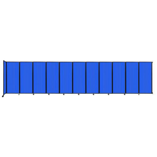 """Wall-Mounted Room Divider 360 Folding Partition 30'6"""" x 6'10"""" Blue Polycarbonate"""