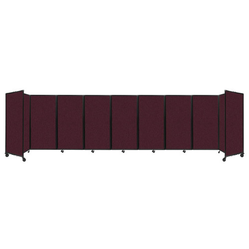 Room Divider 360 Folding Portable Partition 25' x 6' Cranberry Fabric