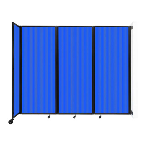 """Wall-Mounted Room Divider 360 Folding Partition 8'6"""" x 6'10"""" Blue Polycarbonate"""