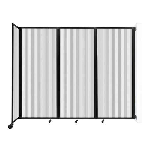 """Wall-Mounted Room Divider 360 Folding Partition 8'6"""" x 6'10"""" Clear Polycarbonate"""