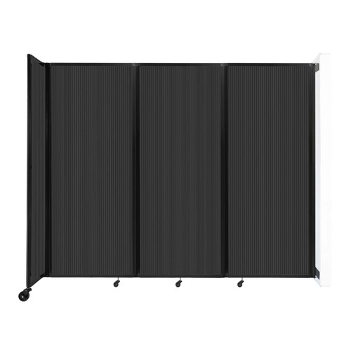 """Wall-Mounted Room Divider 360 Folding Partition 8'6"""" x 6'10"""" Dark Gray Polycarbonate"""