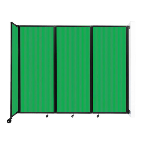 """Wall-Mounted Room Divider 360 Folding Partition 8'6"""" x 6'10"""" Green Polycarbonate"""