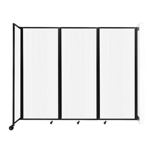 """Wall-Mounted Room Divider 360 Folding Partition 8'6"""" x 6'10"""" Opal Polycarbonate"""