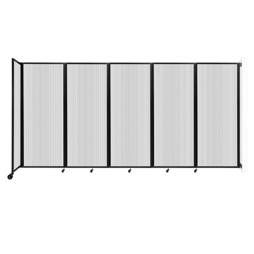 """Wall-Mounted Room Divider 360 Folding Partition 14' x 6'10"""" Clear Polycarbonate"""