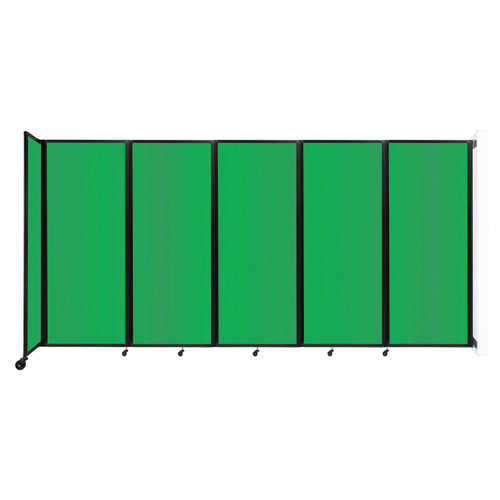 """Wall-Mounted Room Divider 360 Folding Partition 14' x 6'10"""" Green Polycarbonate"""