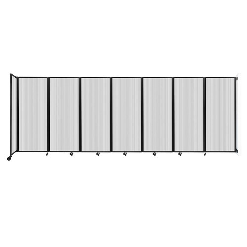 """Wall-Mounted Room Divider 360 Folding Partition 19'6"""" x 6'10"""" Clear Polycarbonate"""