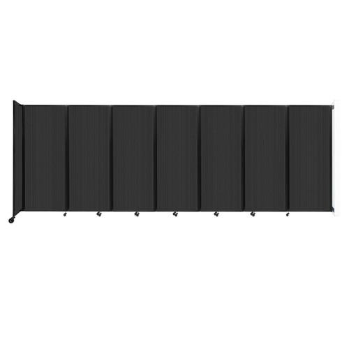 """Wall-Mounted Room Divider 360 Folding Partition 19'6"""" x 6'10"""" Dark Gray Polycarbonate"""