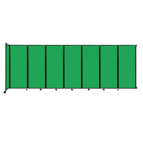 """Wall-Mounted Room Divider 360 Folding Partition 19'6"""" x 6'10"""" Green Polycarbonate"""