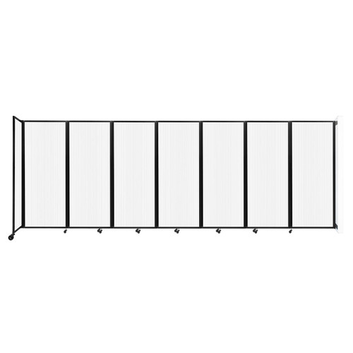 """Wall-Mounted Room Divider 360 Folding Partition 19'6"""" x 6'10"""" Opal Polycarbonate"""