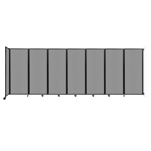 """Wall-Mounted Room Divider 360 Folding Partition 19'6"""" x 6'10"""" Light Gray Polycarbonate"""