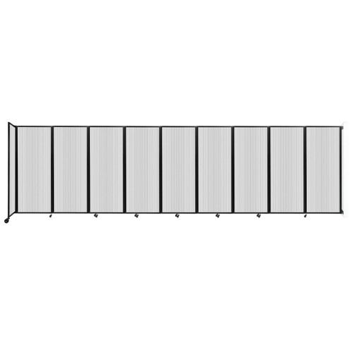 """Wall-Mounted Room Divider 360 Folding Partition 25' x 6'10"""" Clear Polycarbonate"""