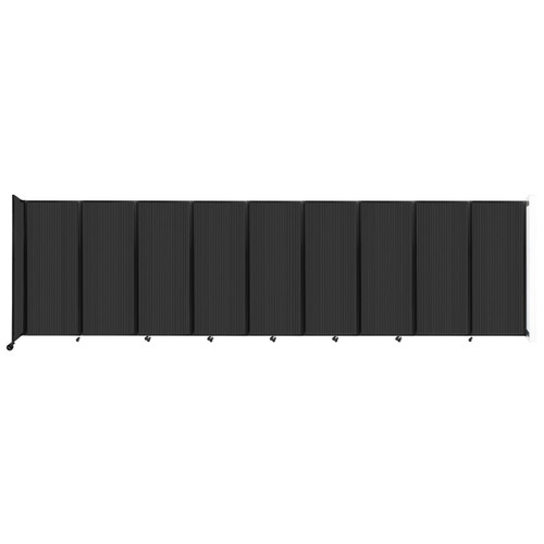 """Wall-Mounted Room Divider 360 Folding Partition 25' x 6'10"""" Dark Gray Polycarbonate"""