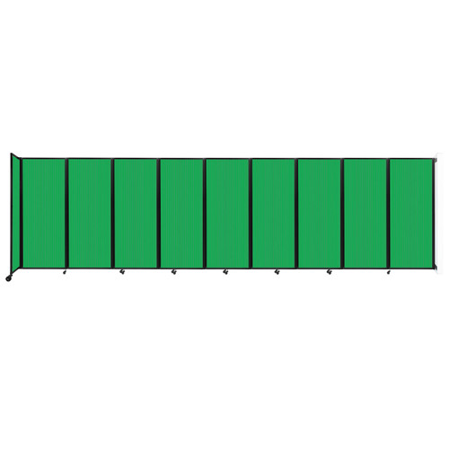 """Wall-Mounted Room Divider 360 Folding Partition 25' x 6'10"""" Green Polycarbonate"""