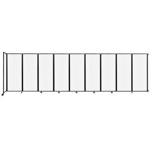 """Wall-Mounted Room Divider 360 Folding Partition 25' x 6'10"""" Opal Polycarbonate"""