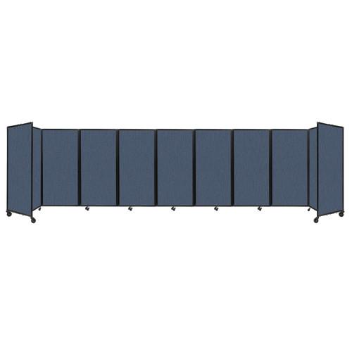Room Divider 360 Folding Portable Partition 25' x 6' Ocean Fabric