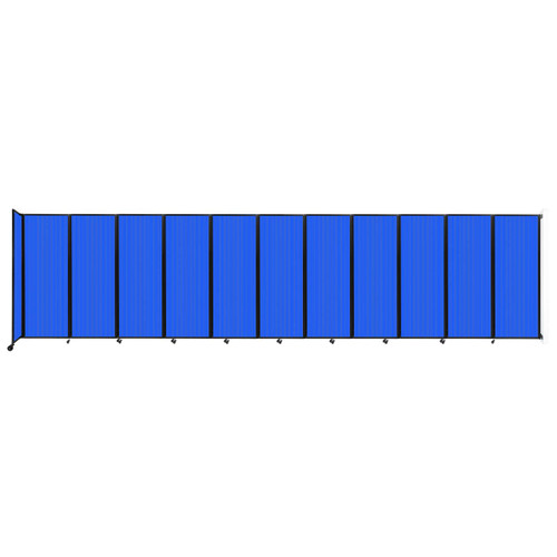 """Wall-Mounted Room Divider 360 Folding Partition 30'6"""" x 7'6"""" Blue Polycarbonate"""