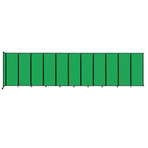 """Wall-Mounted Room Divider 360 Folding Partition 30'6"""" x 7'6"""" Green Polycarbonate"""
