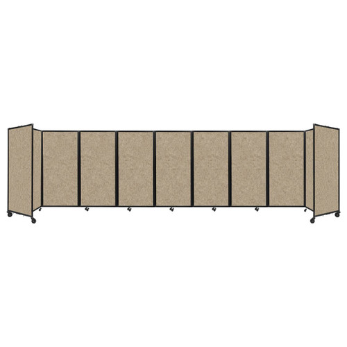 Room Divider 360 Folding Portable Partition 25' x 6' Rye Fabric