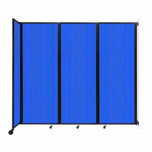 """Wall-Mounted Room Divider 360 Folding Partition 8'6"""" x 7'6"""" Blue Polycarbonate"""