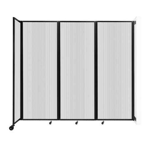 """Wall-Mounted Room Divider 360 Folding Partition 8'6"""" x 7'6"""" Clear Polycarbonate"""