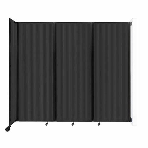 """Wall-Mounted Room Divider 360 Folding Partition 8'6"""" x 7'6"""" Dark Gray Polycarbonate"""