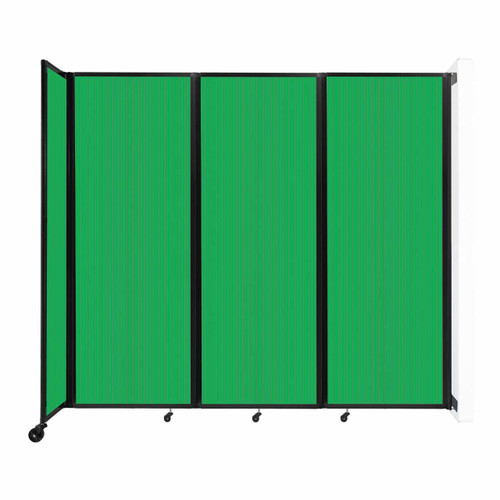 """Wall-Mounted Room Divider 360 Folding Partition 8'6"""" x 7'6"""" Green Polycarbonate"""