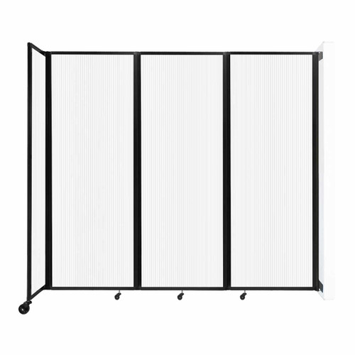 """Wall-Mounted Room Divider 360 Folding Partition 8'6"""" x 7'6"""" Opal Polycarbonate"""