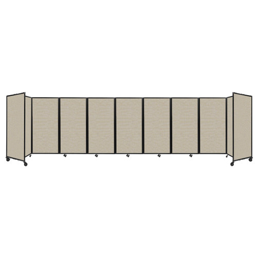 Room Divider 360 Folding Portable Partition 25' x 6' Sand Fabric