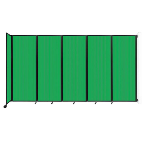 """Wall-Mounted Room Divider 360 Folding Partition 14' x 7'6"""" Green Polycarbonate"""