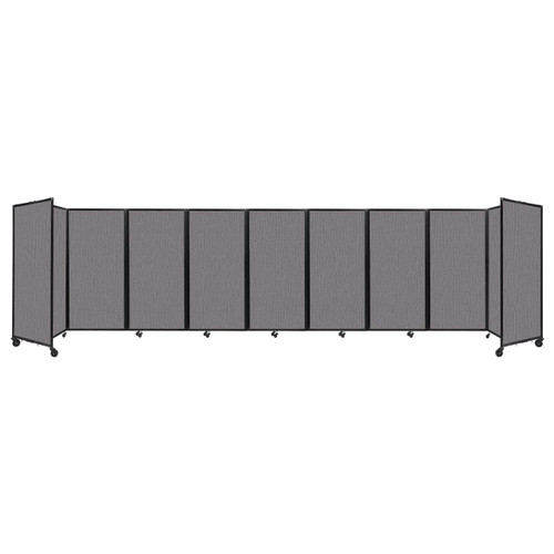 Room Divider 360 Folding Portable Partition 25' x 6' Slate Fabric